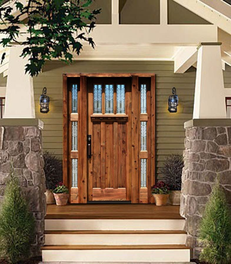 Furnitures, : Rustic Custom Doors Solid Wood Exterior ...