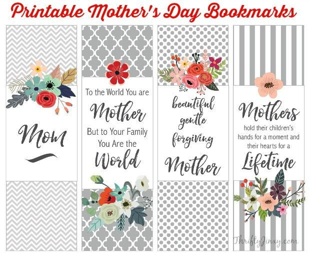 mother 39 s day books mom will love printable bookmarks gift ideas mother 39 s day printables. Black Bedroom Furniture Sets. Home Design Ideas