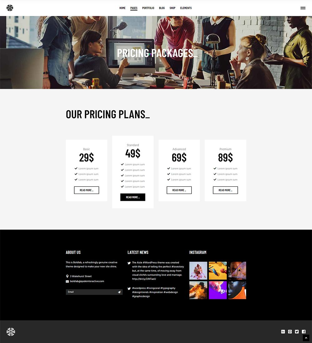 Boldlab Wordpress Theme Comes Packed With Stunning Layouts That Are Waiting For Your Content Wordpress Webdesign P Wordpress Theme New Instagram Web Design