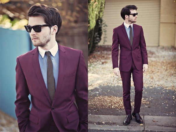 dark red suit