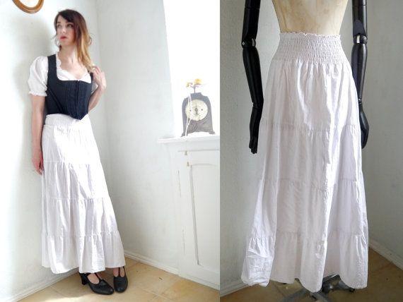 RESERVED ITEM   on HOLD   Underskirt White cotton Maxi High waist ... 3725800e729e5
