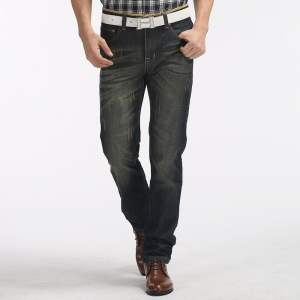 "Men Casual Straight Legged Jeans. Item specifics Gender: Men Item Type: Jeans Material: Denim,Cotton,Polyester Fit Type: Loose Brand Name: Men Jeans Waist Type: Mid Fabric Type: Stripe Length: Full Length Closure Type: Zipper Fly Decoration: Pockets Jeans Style: Straight Pattern Type: Solid Style: ""European and American Style Thickness: Midweight Wash: Light Gender: Men Item Type: Jeans Material: Denim,Cotton Length: Full Length Pattern Type: Solid Style: Fashion Color: …"