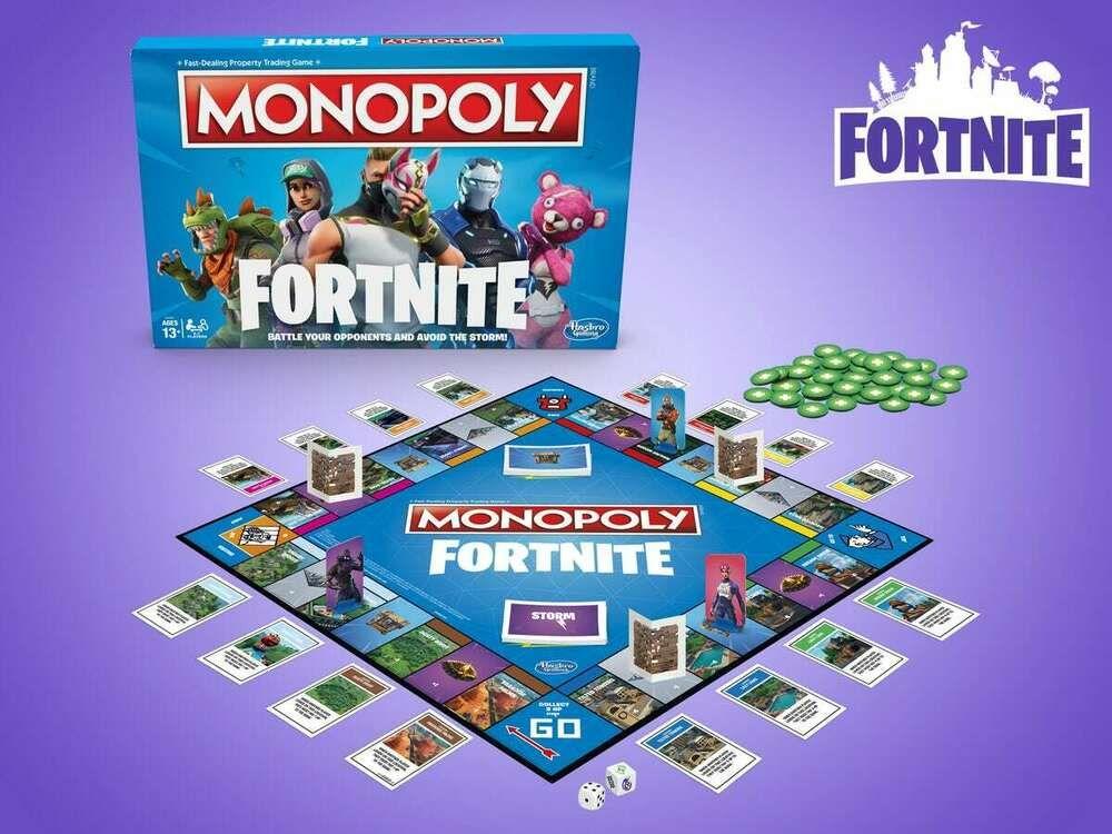 Monopoly Fortnite Edition Board Game Hasbro Free Overnight
