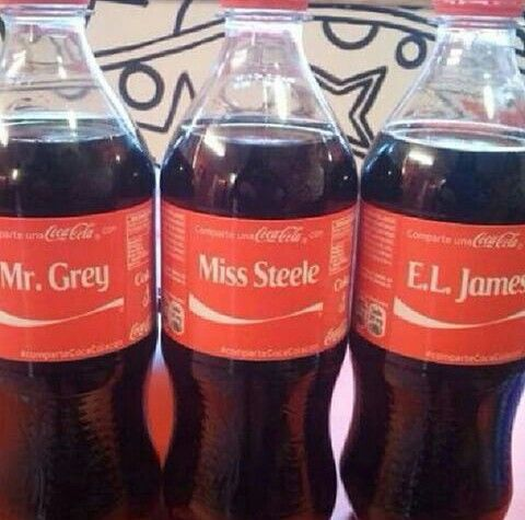 Fifty Shades of Grey / Mr. Grey / Miss Steele / E. L James CocaCola bottles