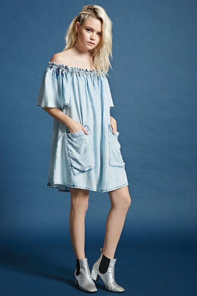Vestido Escote Drapeado - Mujer - Vestidos - 2000108388 - Forever 21 ...