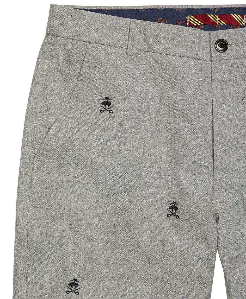 Brooks Brothers Slim Fit Fancy Fleece   Shears Embroidered Pants ... 0af456ec6