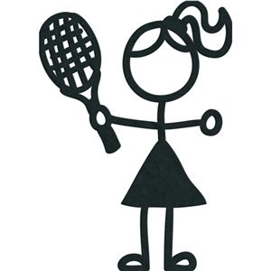 Silhouette Design Store Stick Figures Tennis Girl Stick Figures Tennis Tennis Tshirts