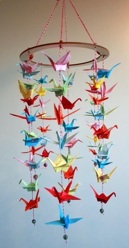 Mobile Origami Móvil De Papel Grullas Origami Y Grullas