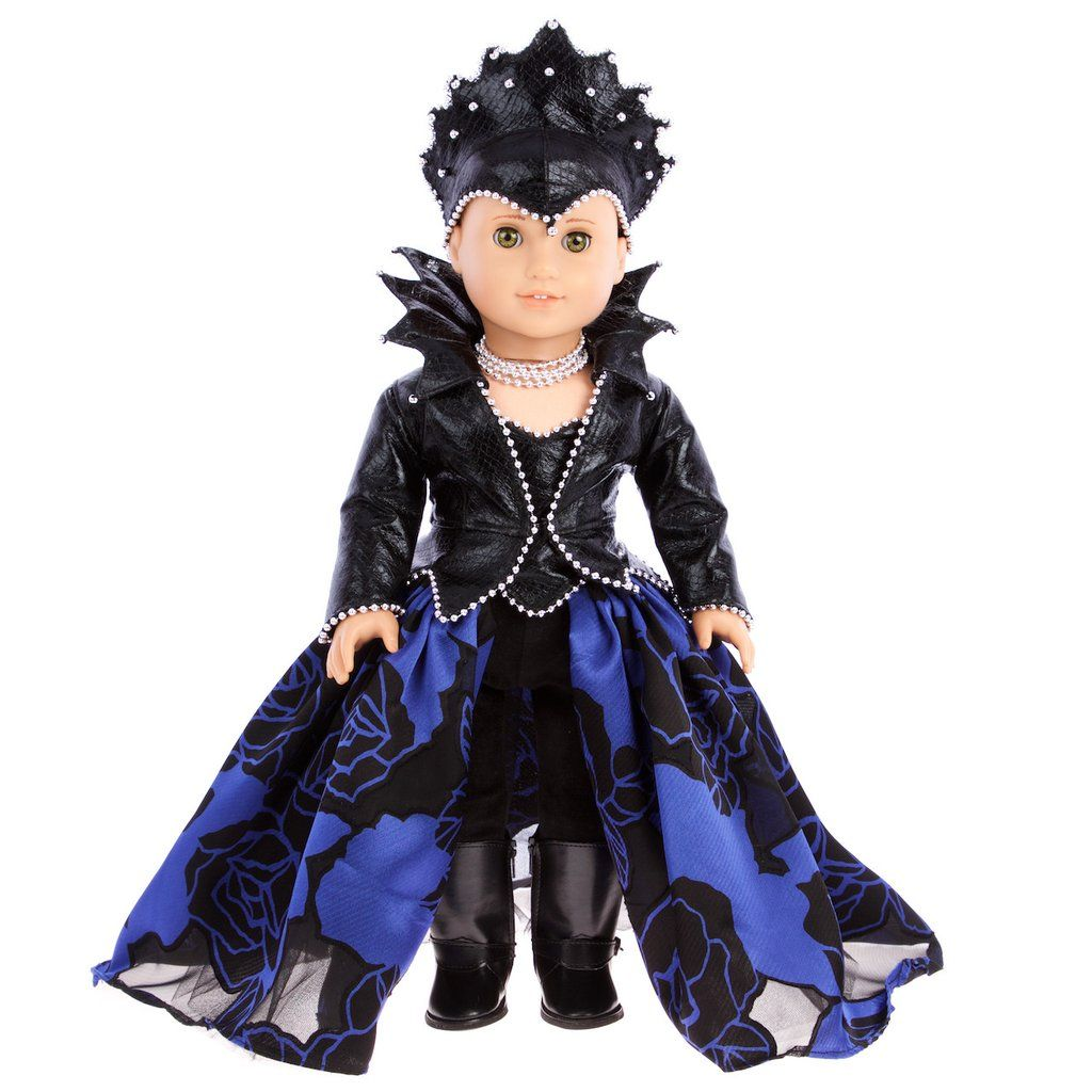 once upon a time evil queen doll clothes for 18 inch american girl doll horseback riding outfit