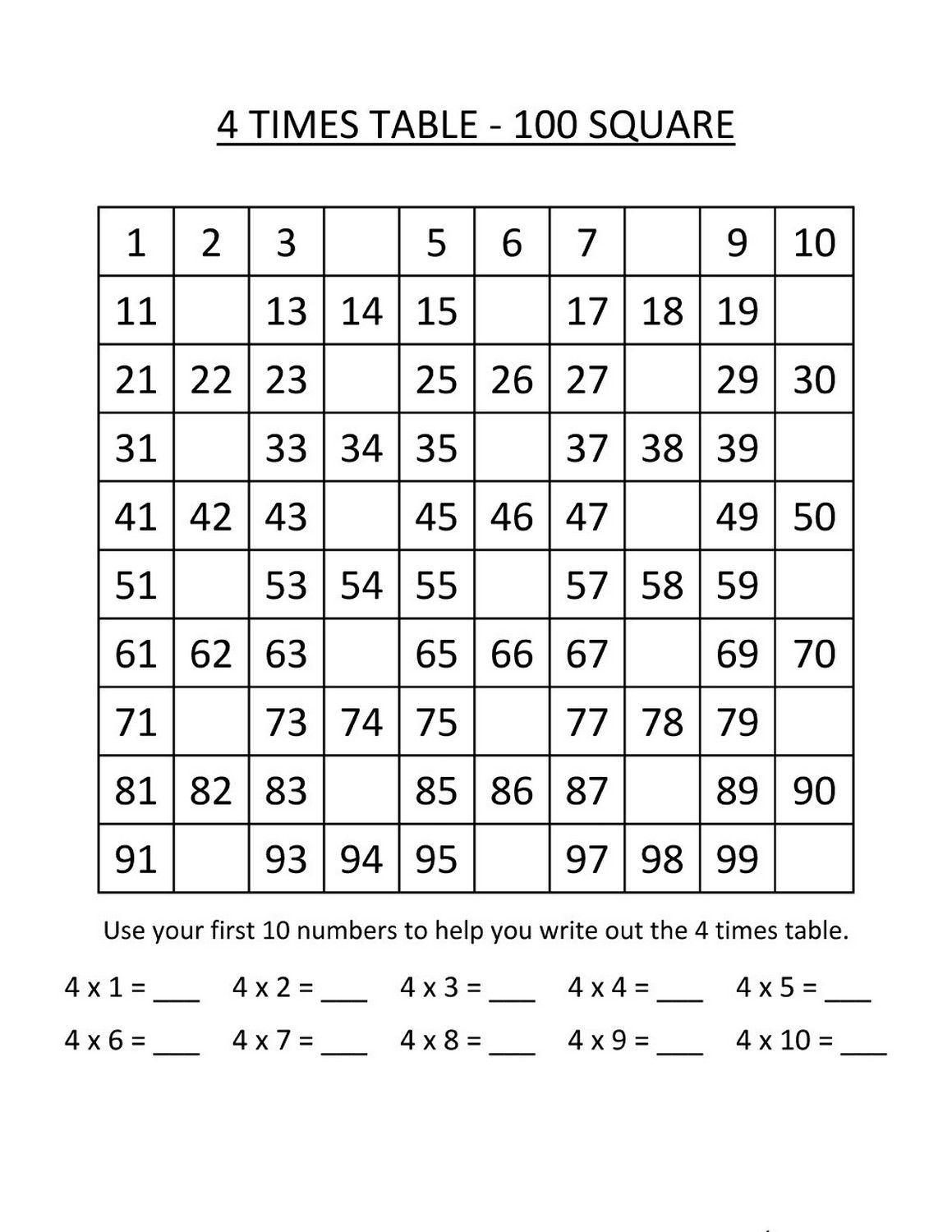 Times Table Exercise Basic Printable Multiplication Worksheets Times Tables Worksheets Printable Times Tables