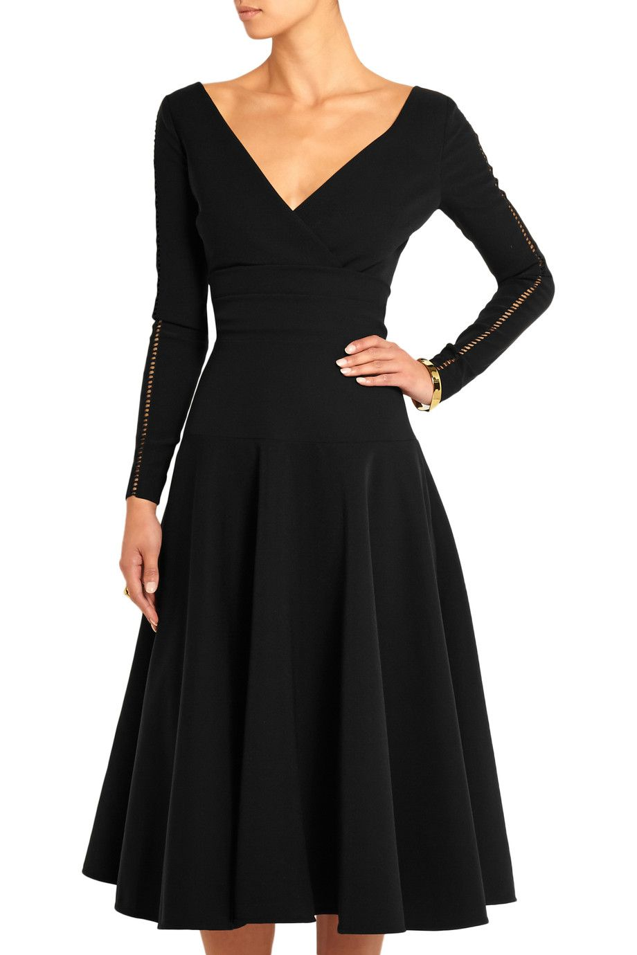 Shop on-sale Preen by Thornton Bregazzi Martina pointelle-trimmed stretch-crepe dress. Browse other discount designer Dresses & more on The Most Fashionable Fashion Outlet, THE OUTNET.COM
