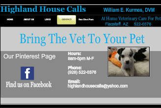 Highland House Calls Mobile Veterinarian Flagstaff Arizona