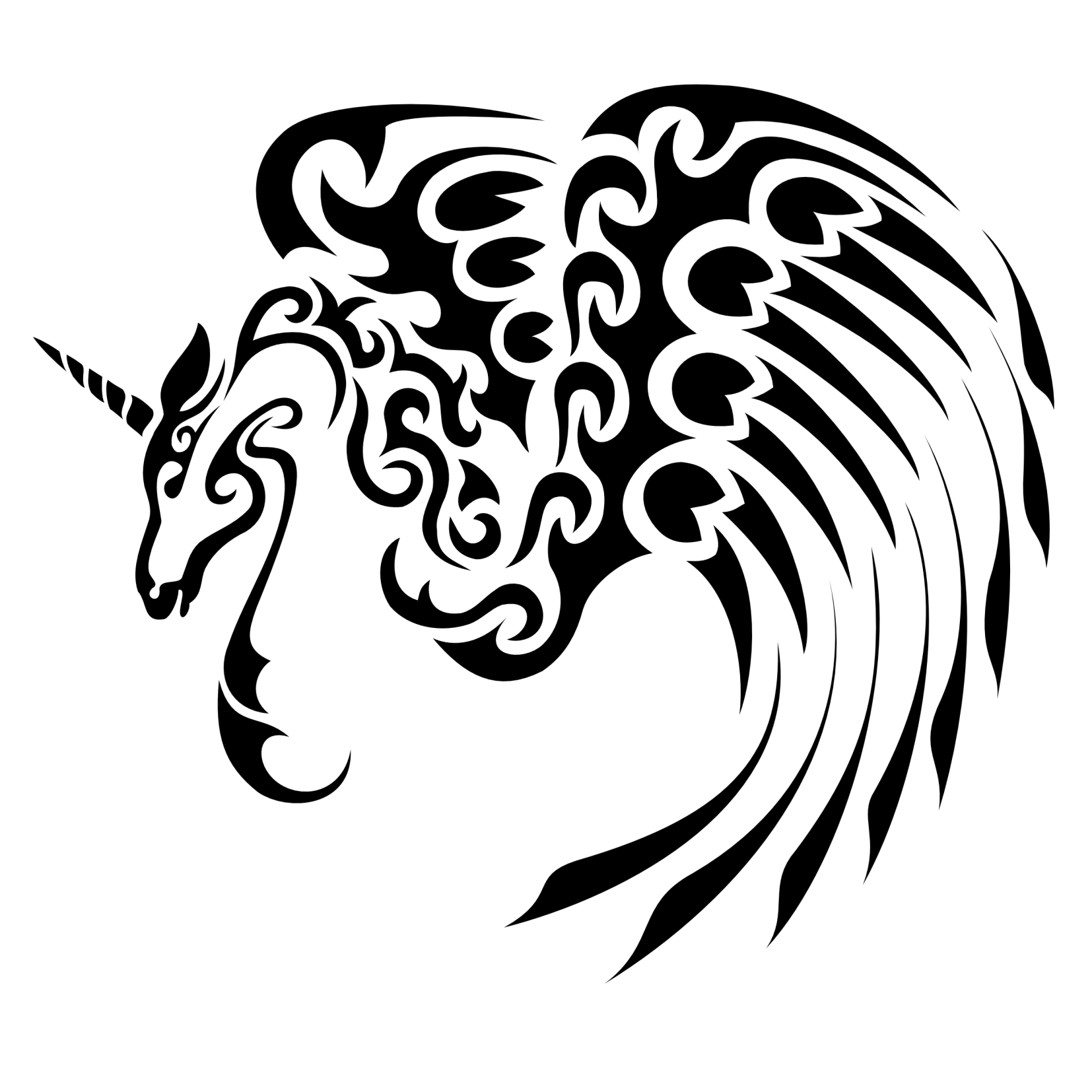 Car sticker design png - Tattoo Tribes Shape Your Dreams Tattoos And Their Meaning Unicorn Pegasus Car Decalsvinyl