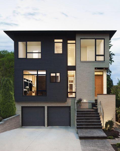 Une petite maison à deux étages très design avec son plan de