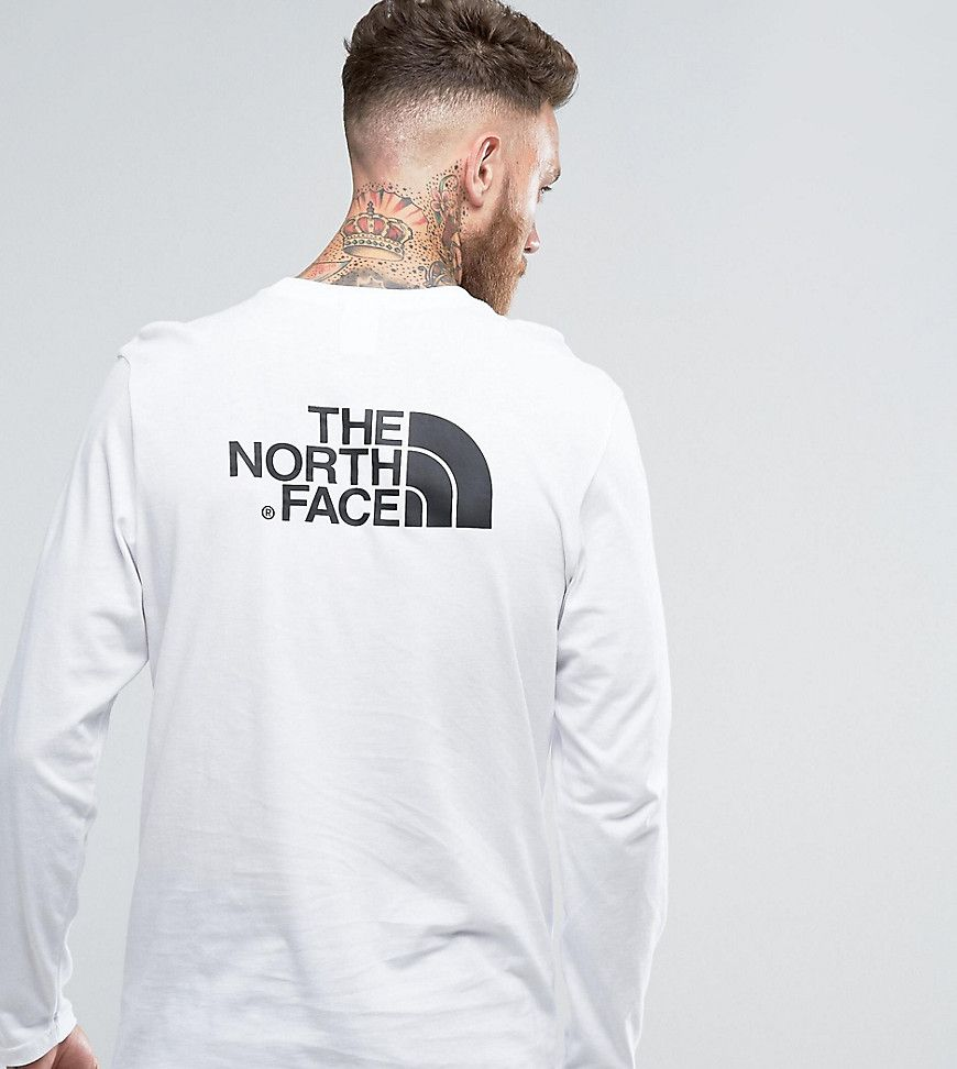 fdab6864b The North Face Long Sleeve Top Easy Back Logo In White EXCLUSIVE TO ...