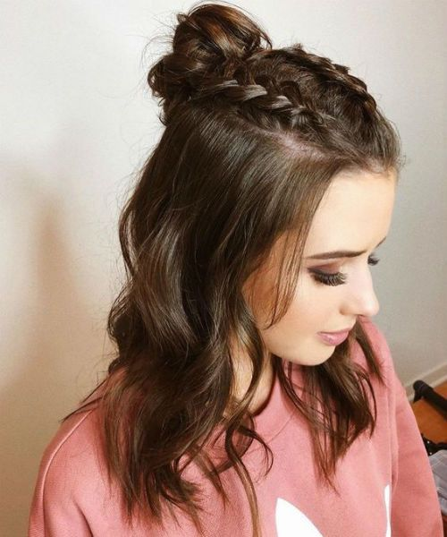 15 Trendiest Half Up Half Down Hairstyles 2019 To Blow Peoples Minds Braided Hairstyles Easy Meduim Length Hair Cute Hairstyles For Teens