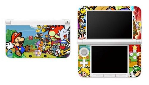 Paper Mario Nintendo 3DS XL LL Vinyl Skin Decal Sticker | Gli628    Accessories On ArtFire