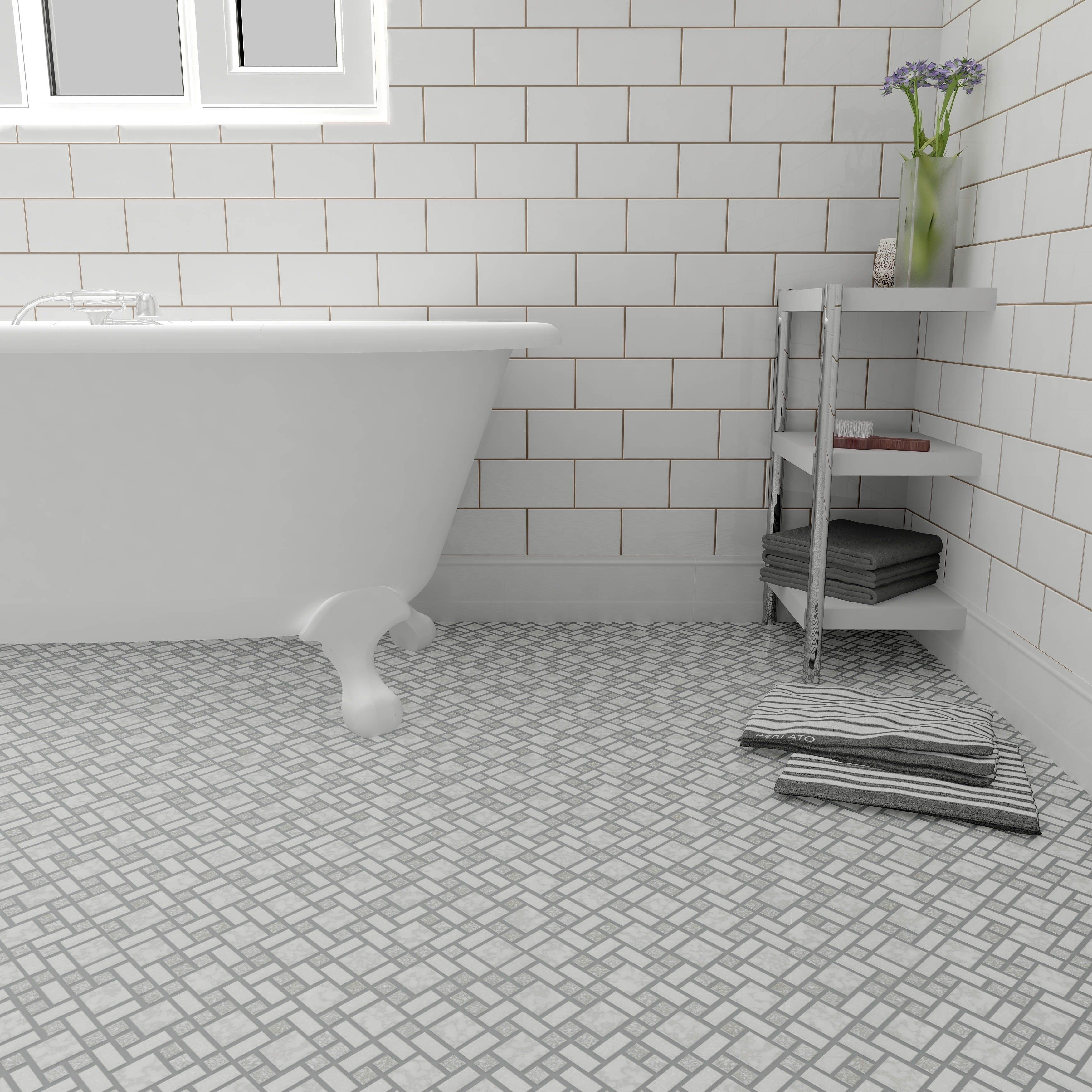 Subway Tile With Mosaic Floor Porcelain Mosaic Porcelain Mosaic Tile Ceramic Floor Tile