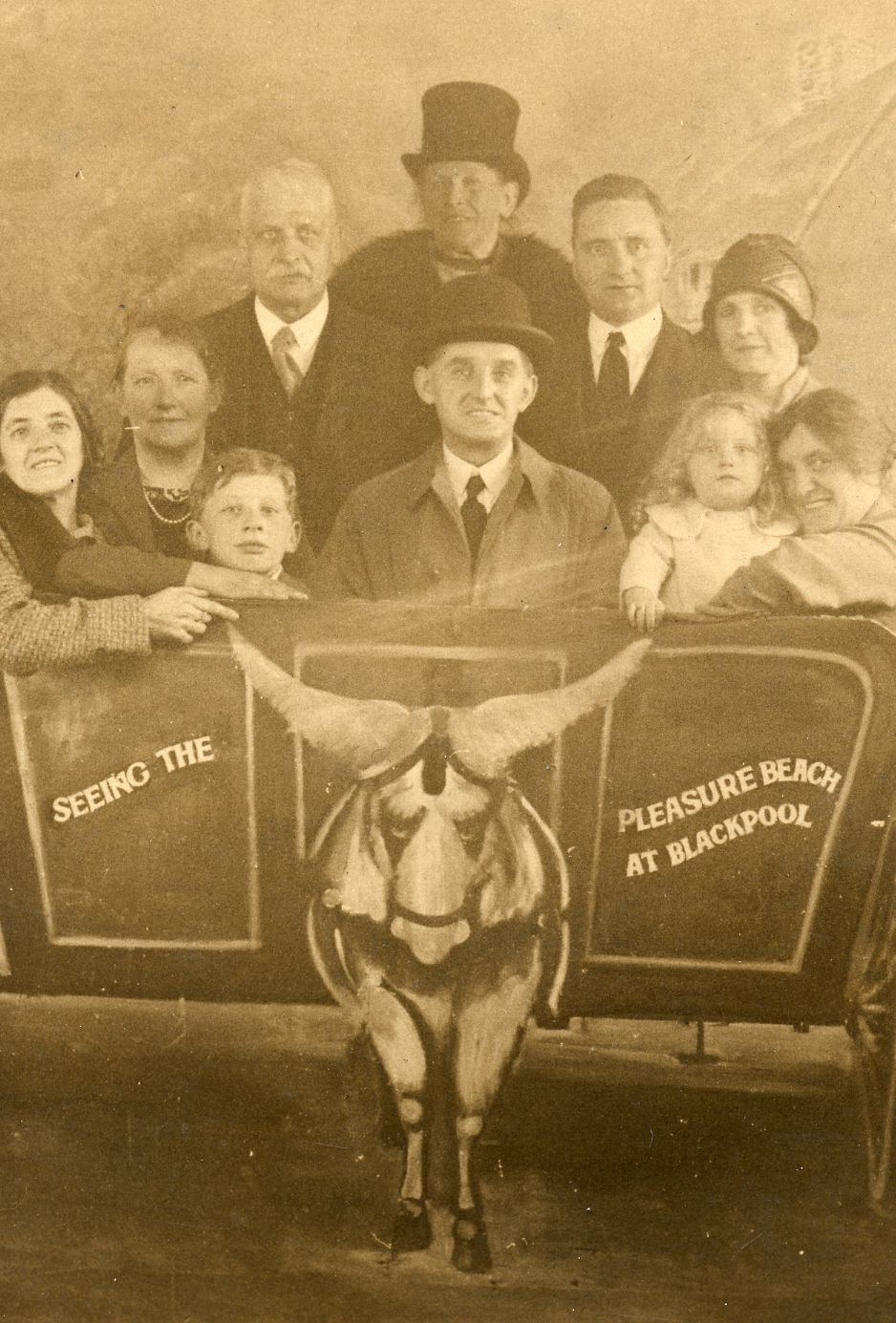 Blackpool souvenir photograph. This image was taken in 1930 by Charles Howell, Official photographer, Pleasure Beach, Blackpool.