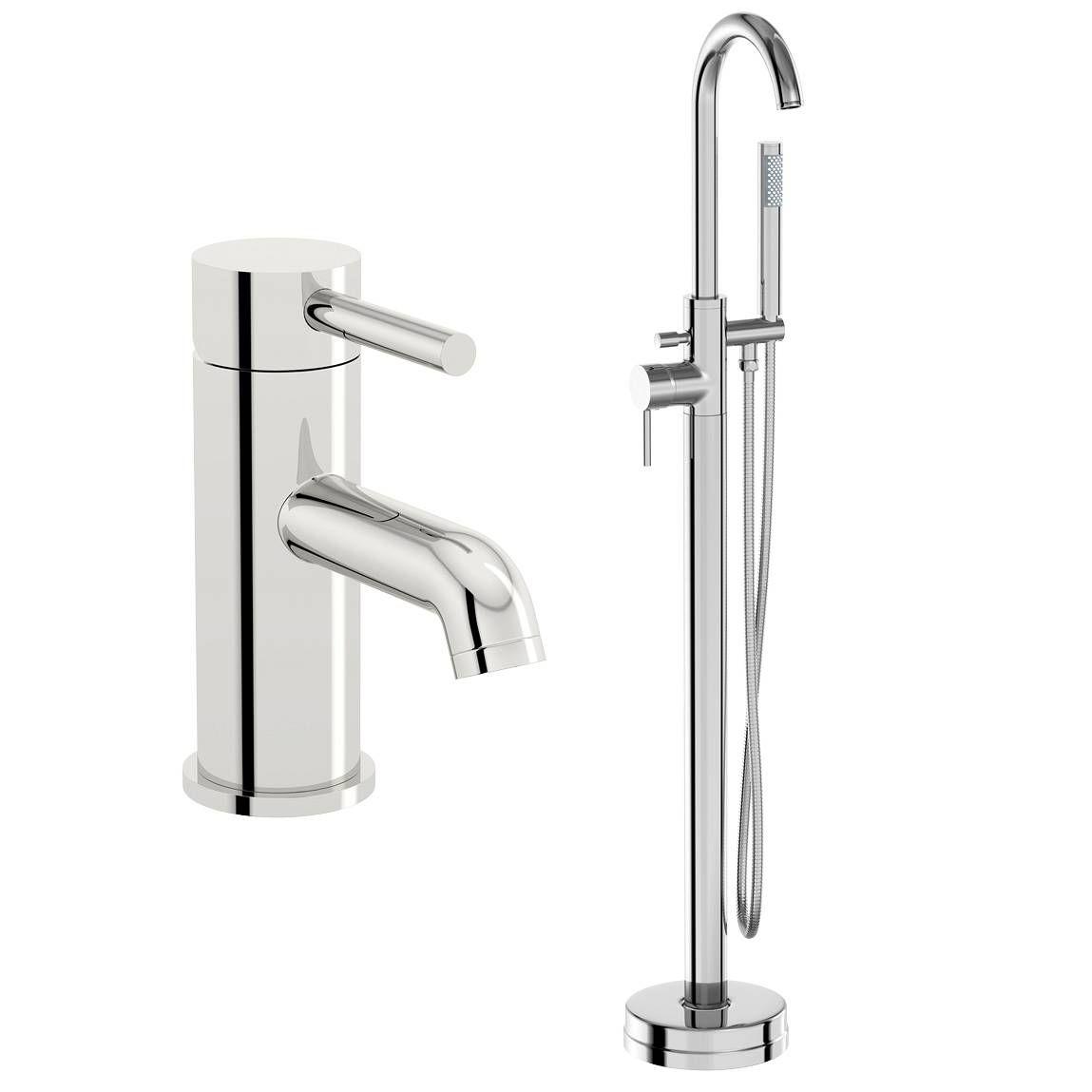 Plumbs bathroom suites - Phaze Basin Mixer And Bath Shower Standpipe Pack 209 99 Victoria Plumb