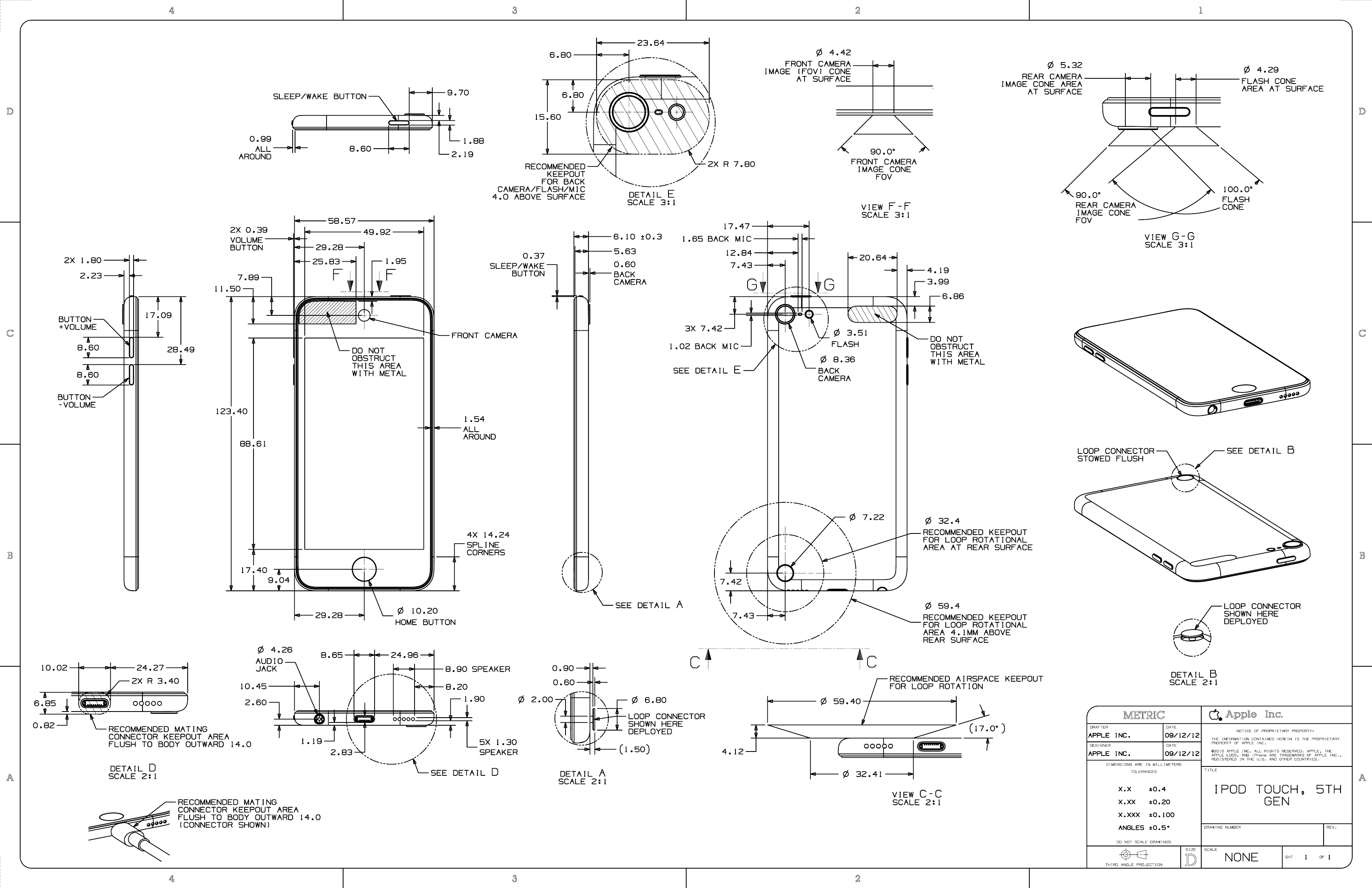 iphone 5 dimensions apple releases official design documents f rh pinterest com Pin iPhone Wiring-Diagram iPod 30-Pin Connector Diagram