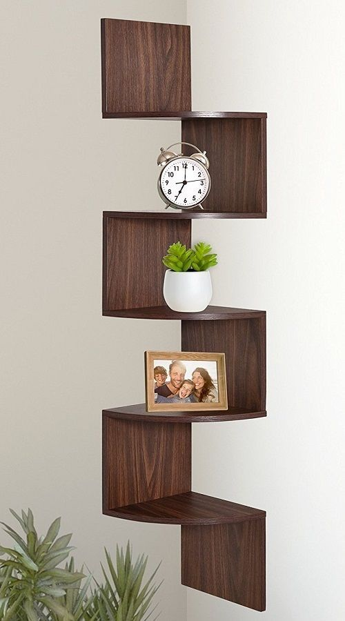 Wall Mount Corner Shelves Floating Storage Book Rack Kitchen Shelf Home Decor Corner Decor Corner Shelves Corner Shelf Design