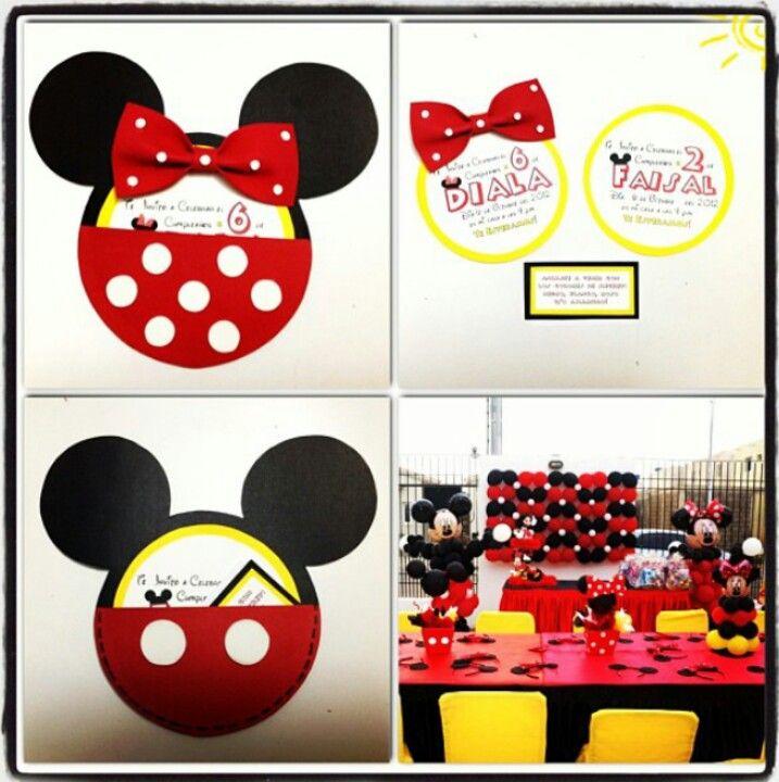 Tarjeta Mickey Mouse Disney Mickey Mouse Cards