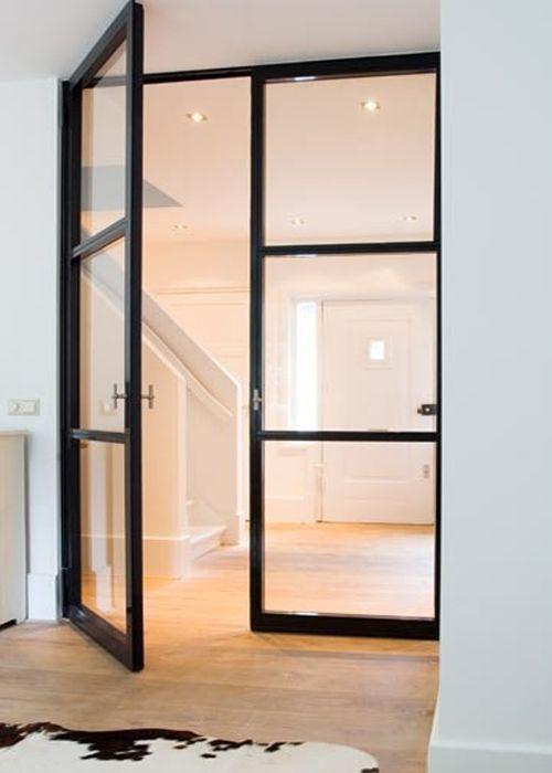 puertas-cristal-marco-hierro-negro-black-metal-thin-framed-glass ...