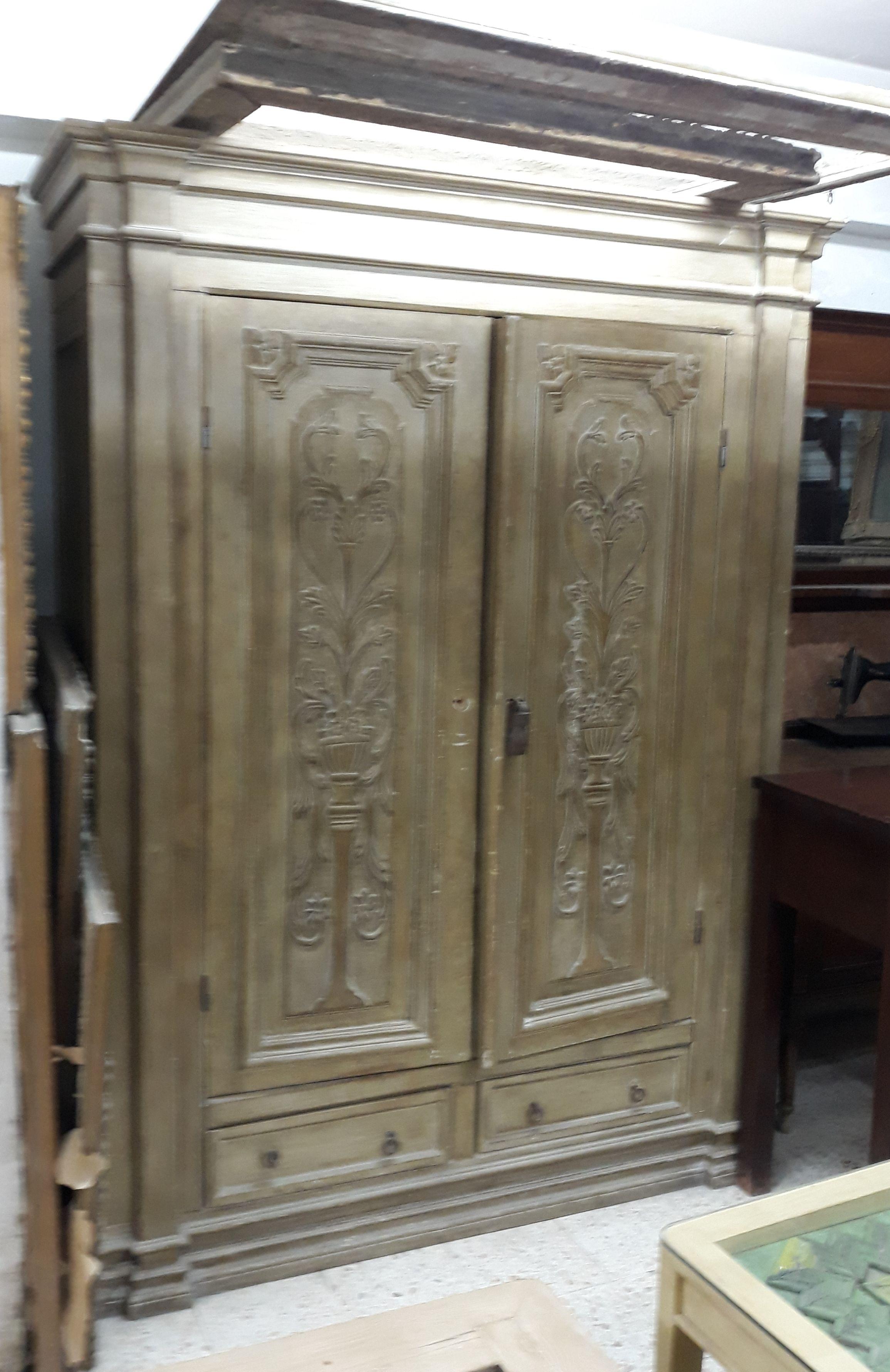 دولاب كبير باستخدام باب قديم Big Cabinet Using An Old Door Decor Furniture Home Decor