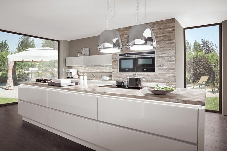 Kochinsel Küche Hochglanz Weiß Norina 9555 Küche Pinterest