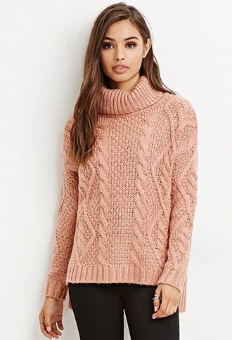 Cable Knit Turtleneck Sweater | Forever 21 #foreverfamily