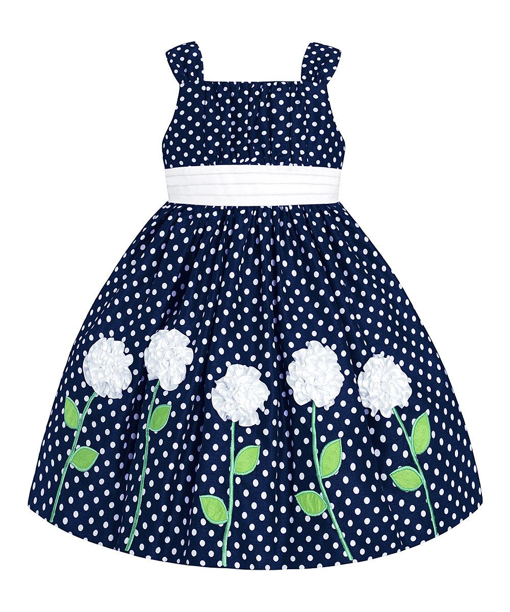399ea8c2fe01 Navy & White Polka Dot Floral Dress - Infant & Girls by American Princess  #zulily #zulilyfinds. ALL GONE, BUT CAN ASK TO BE NOTIFIED.