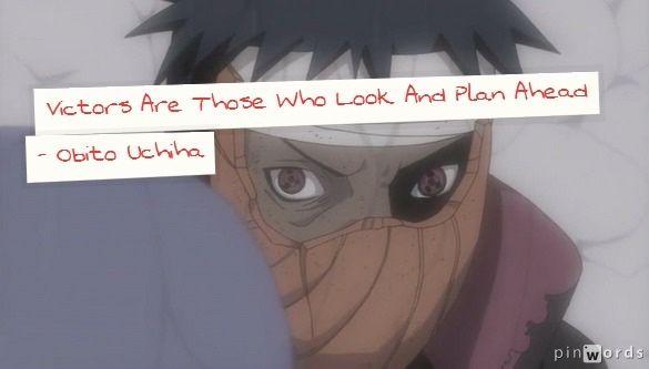 Obito Uchiha Anime Quotes Manga Quotes Anime