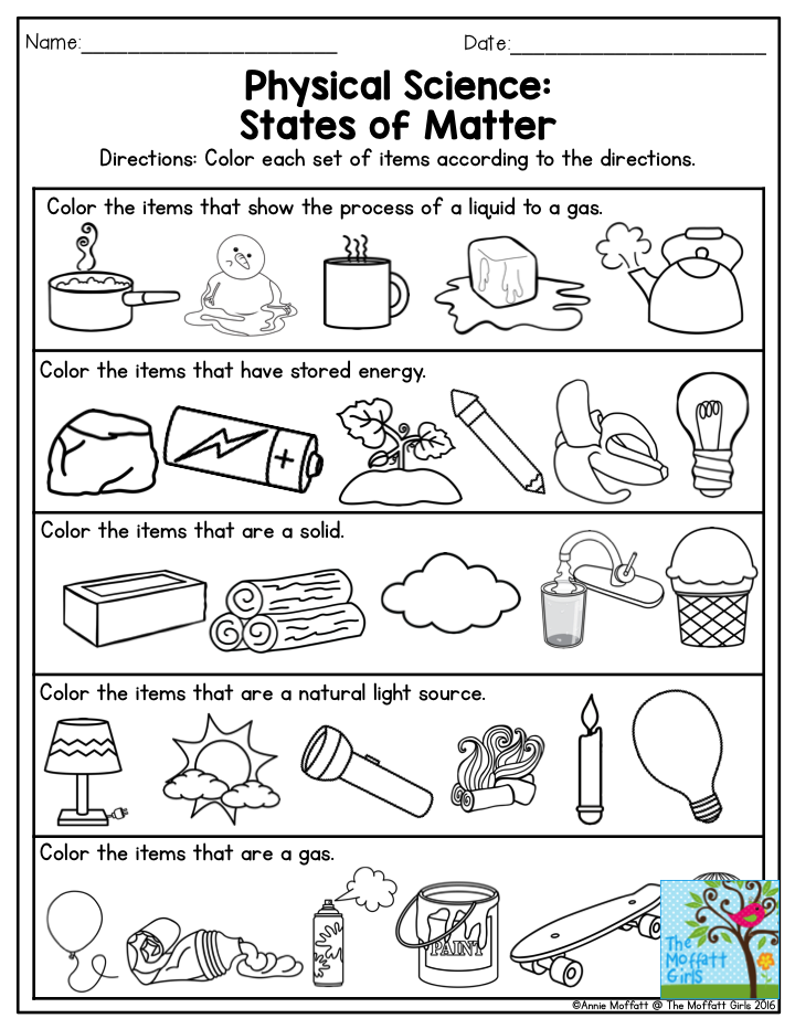 physical science states of matter this is a great exercise for third grade also there are. Black Bedroom Furniture Sets. Home Design Ideas