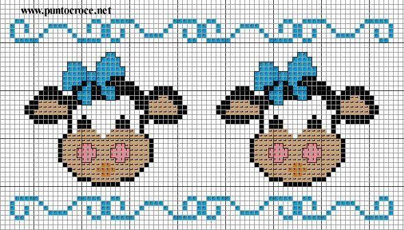 vacas cenefa   vacas en punto cruz   Pinterest   Cenefa, Vaca y ...