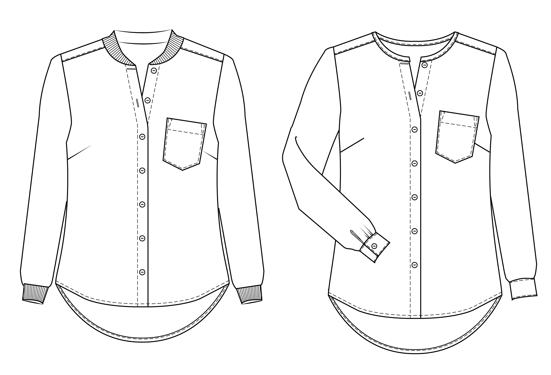 Savannah Shirt Sewing Pattern | Drawing | Pinterest | Sewing, Sewing ...