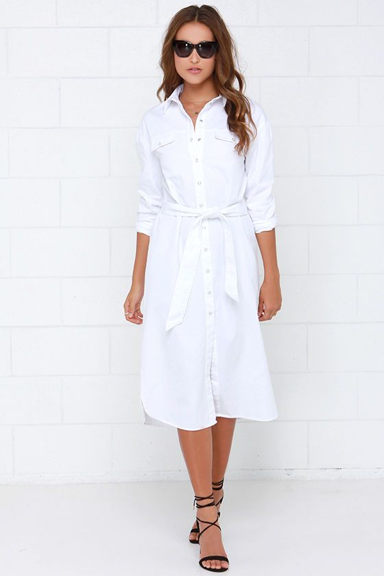 eaa750ced6 The Fifth Label Light the Way White Shirt Dress at Lulus.com!