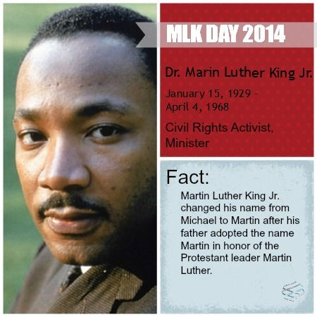 Dr Martin Luther King Jr Day Here S A Fun Fact I Bet You Didn T