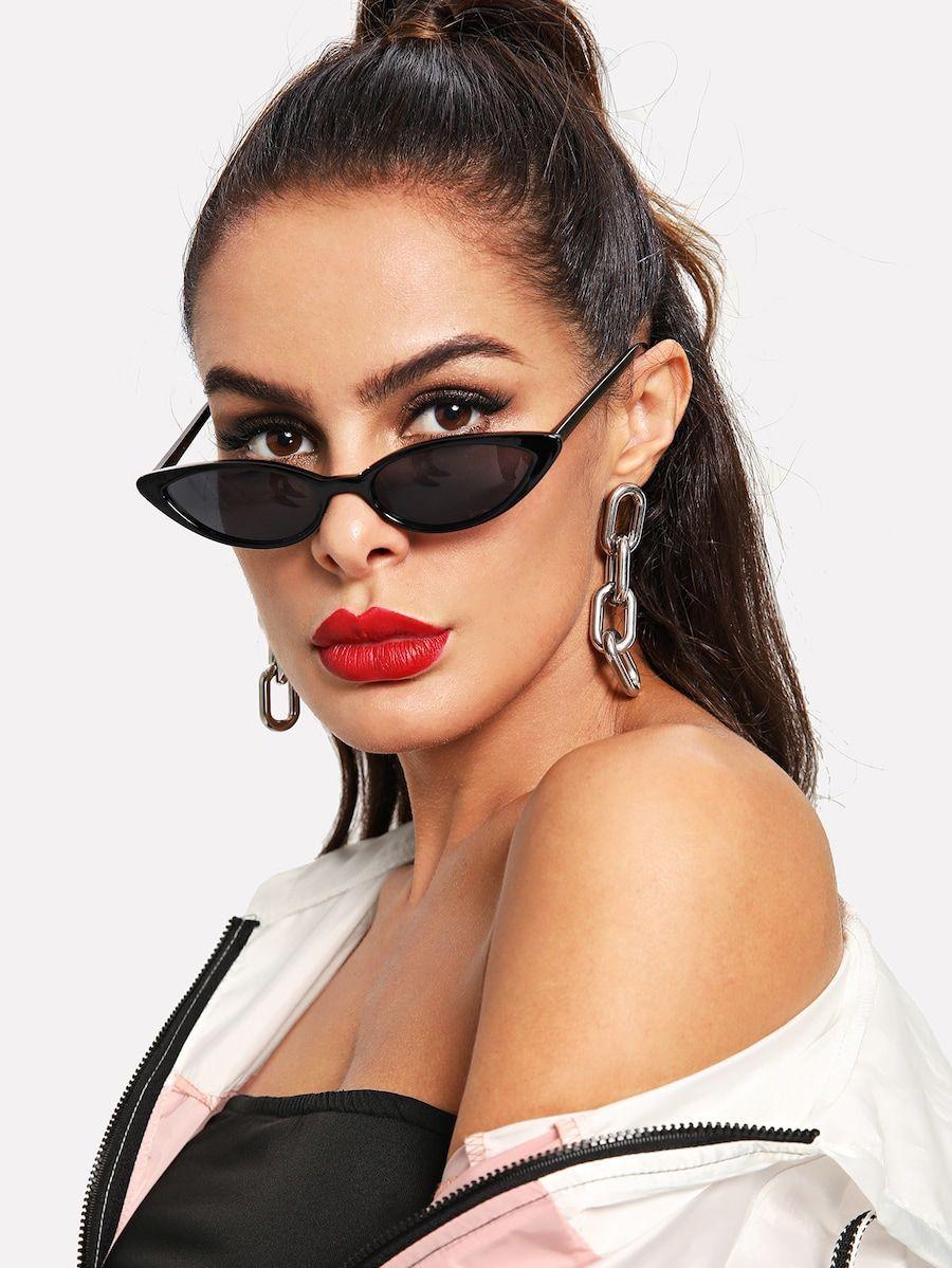 4a24aa919b Flat Lens Sunglasses -SheIn(Sheinside) #onlinesunglassas | Glasses ...