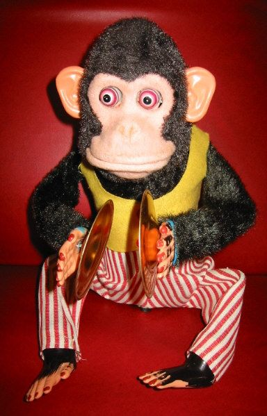 Vintage Toy Monkey With Symbols Memories Pinterest Childhood