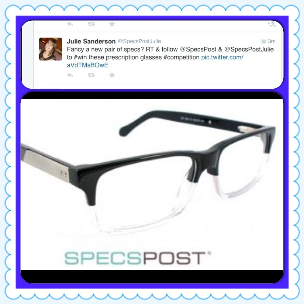 We're running a competition on twitter to win a pair on these fleet St. glasses. Follow @SpecsPost and @specspostjulie and Rt the competition tweets to win.
