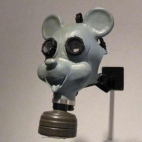 The United States Army Chemical Museum has a very special gas mask. It looks like Mickey Mouse (©Disney)!! This mask was produced early in 1942 to protect children in case of a chemical attack on the United States during WWII