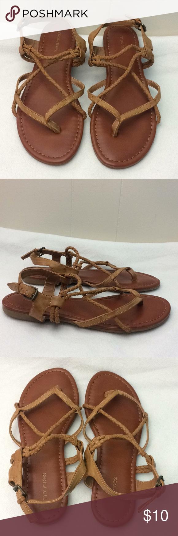 """3f7e70bcf188a6 Maurices """"Adalie"""" Braided Strap Sandals Maurices """"Adalie"""" braided strap  sandals. All"""