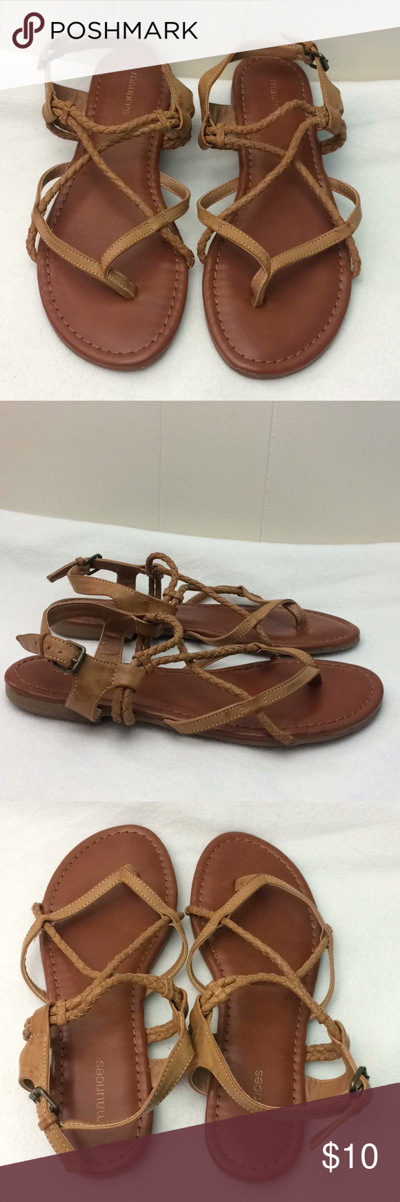 "b418cd1ab777d9 Maurices ""Adalie"" Braided Strap Sandals Maurices ""Adalie"" braided strap  sandals. All"