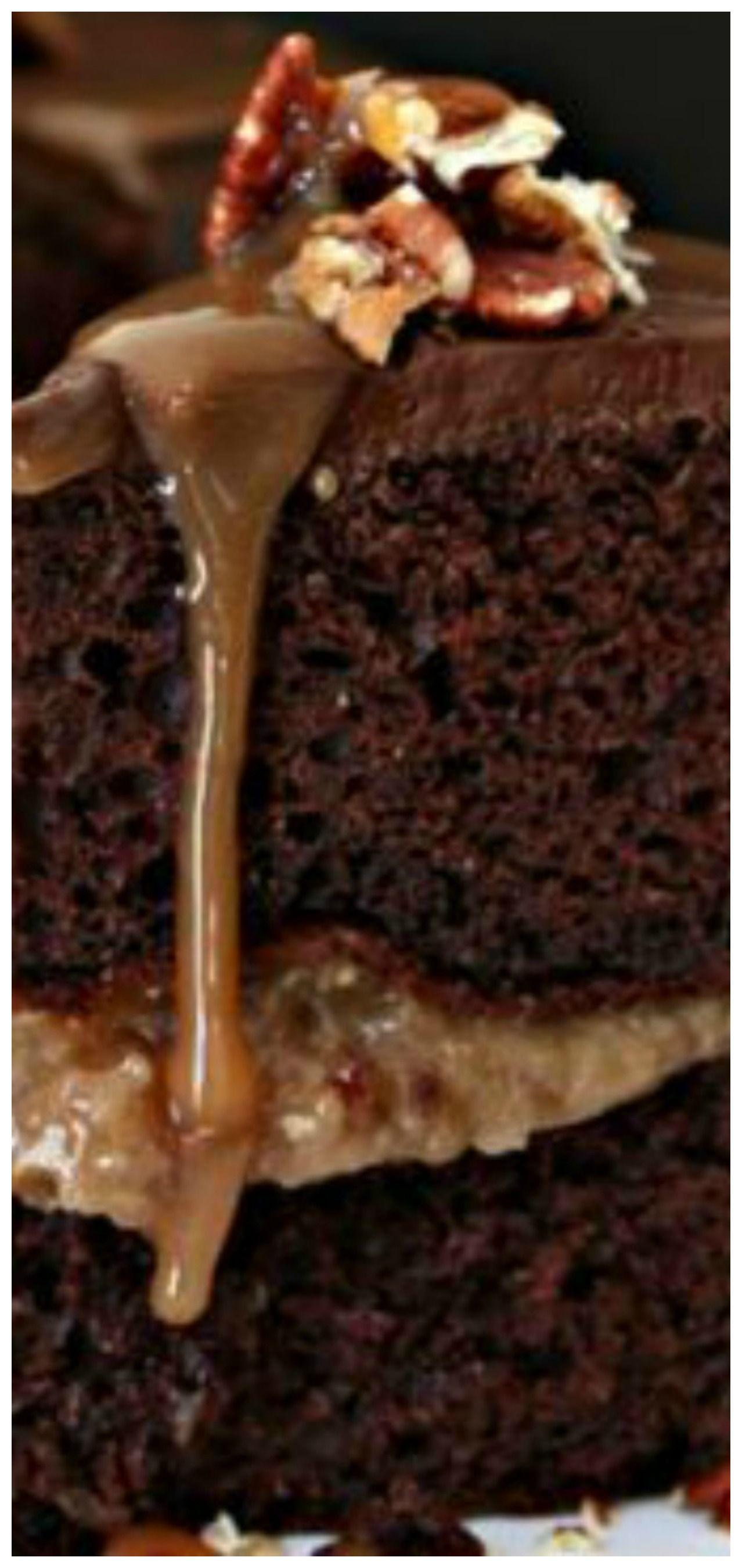Chocolate bourbon pecan cake chocolate cake with coffee