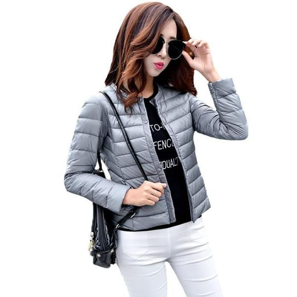 a592ae3dc Fitaylor New Autumn Women Ultra Light White Duck Down Jacket Plus ...