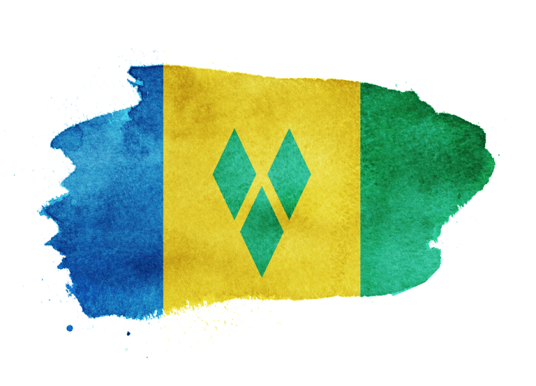 Watercolor Flag Background Saint Vincent And The Grenadines Saint Vincent And The Grenadines Flag Background Independence Day