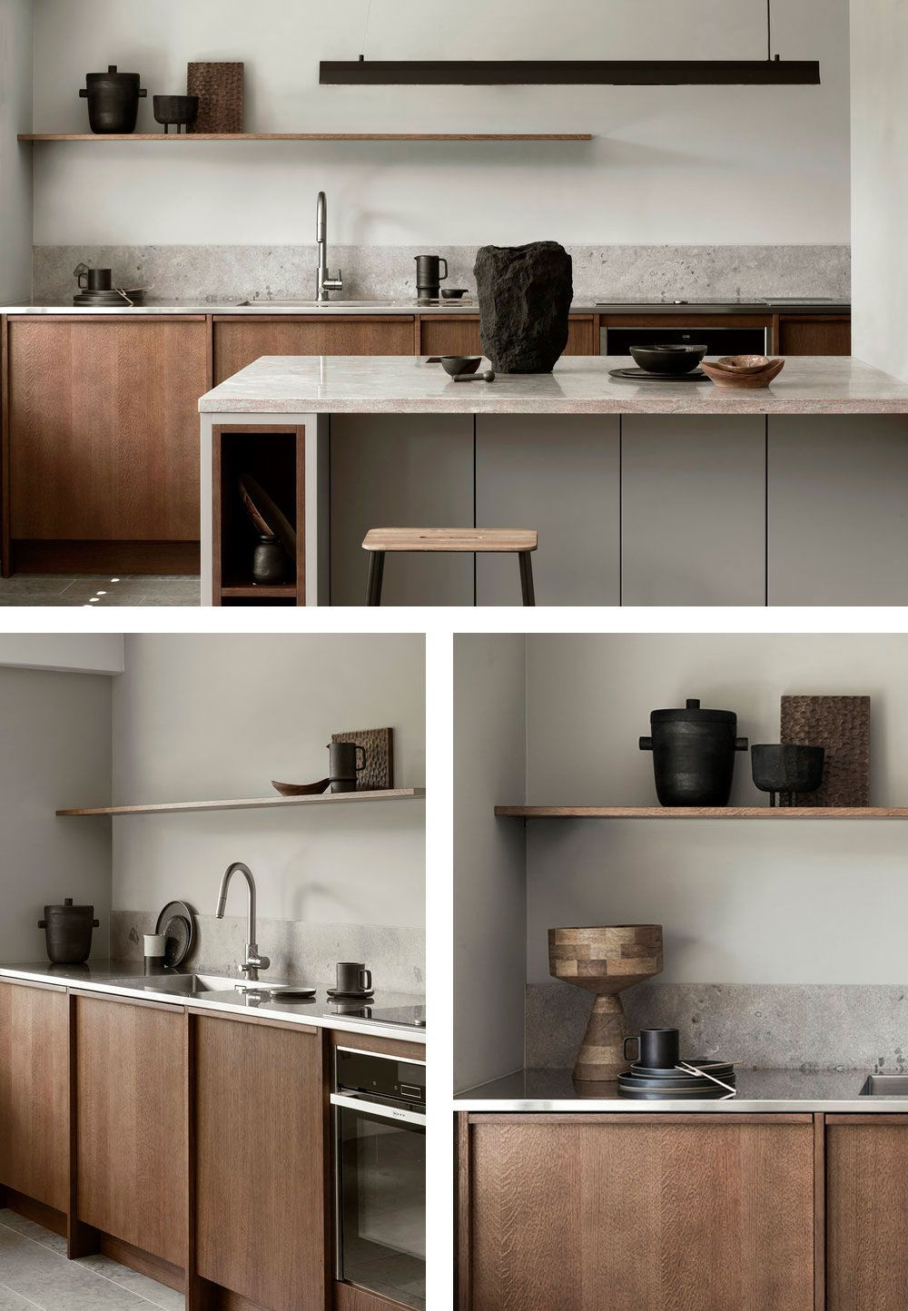 Photo of 9 Fantastic Kitchens with Wooden Cabinets Done Right #greykitcheninterior 5 Fant…