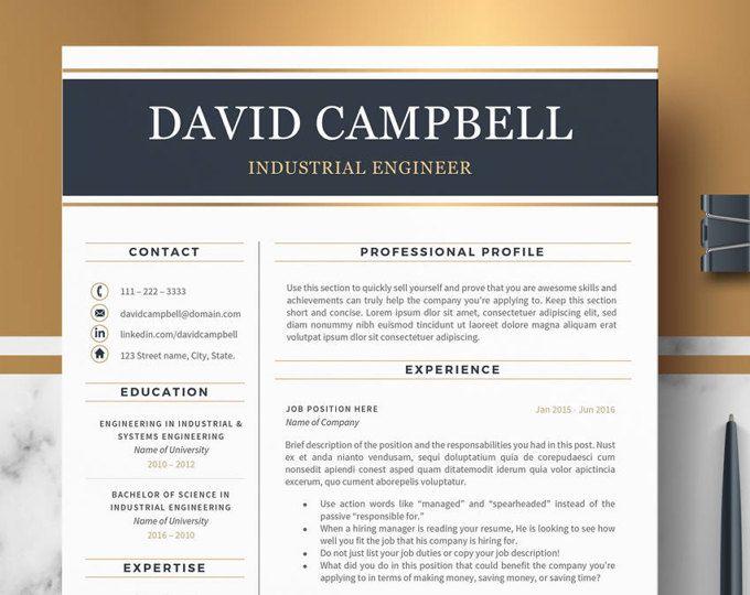 Resume Template For Word Modern Professional Resume Cv