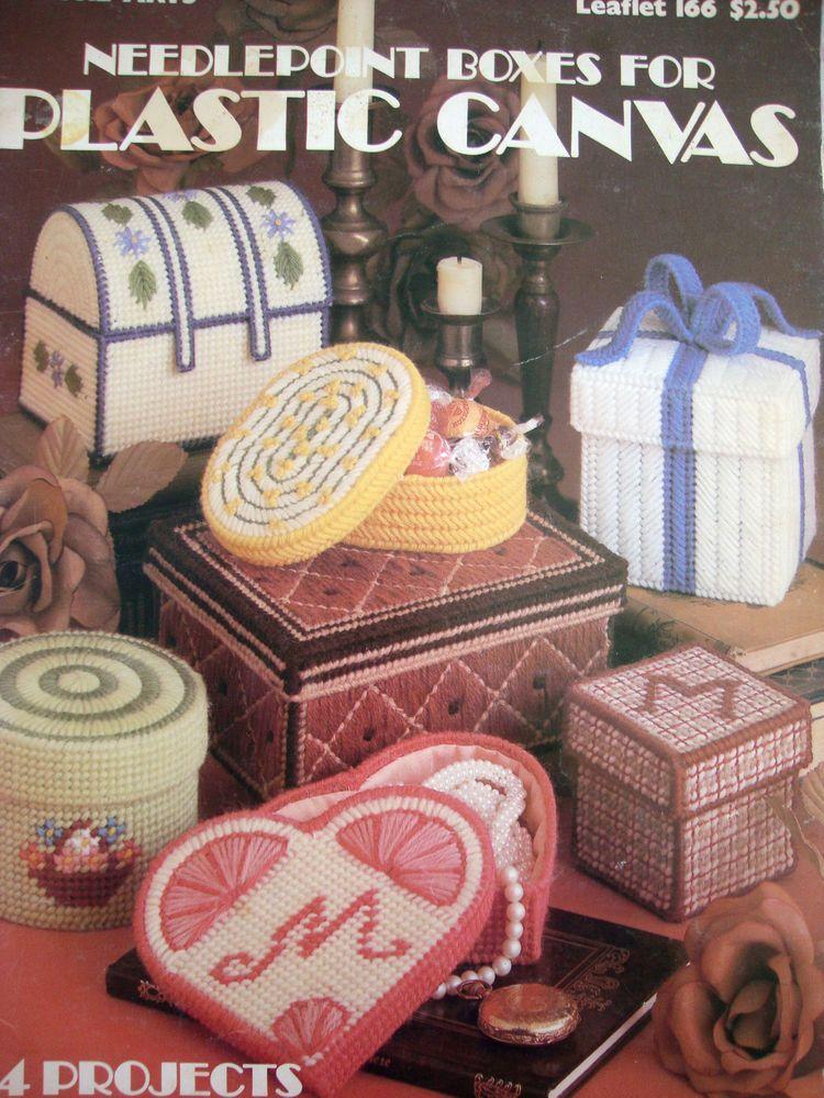 NEEDLEPOINT BOXES FOR  PLASTIC CANVAS  **PLASTIC CANVAS BOOK/LEAFLET** #Plasticcanvaspatterns